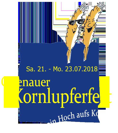 42. Kornlupferfest – Sa. 21. – Mo. 23. Juli 2018